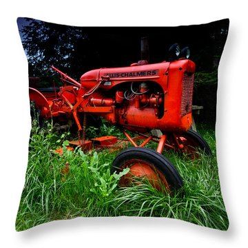 Allis Chalmers Tractor Throw Pillow