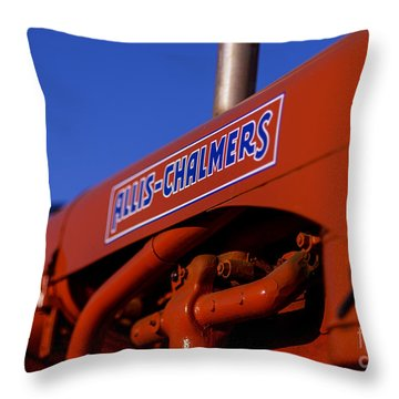 Allis-chalmers Vintage Tractor Throw Pillow