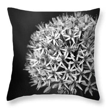 Allium B N W Throw Pillow