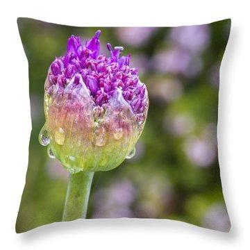 Allium Bud  Throw Pillow