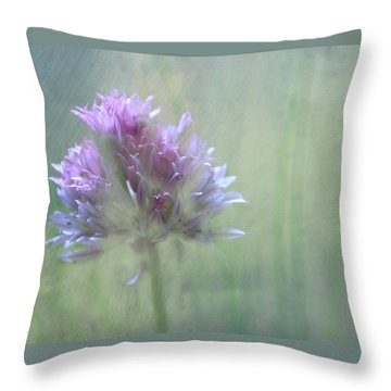 Allium Impressionism Throw Pillow