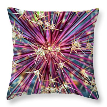 Throw Pillow featuring the photograph Allium Stars by Tim Gainey