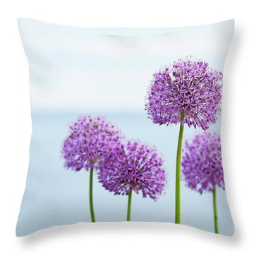 Alliums 1 Throw Pillow