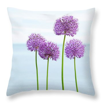 Alliums 2 Throw Pillow