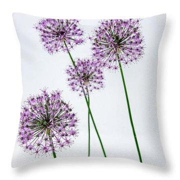 Alliums Standing Tall Throw Pillow by Susan  McMenamin