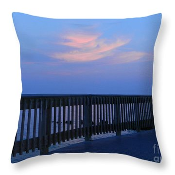 Throw Pillow featuring the photograph Alls Quiet On The Beach Front by Emmy Marie Vickers