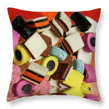 Allsorts Sweets Throw Pillow