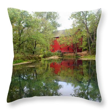 Allsy Sprng Mill Throw Pillow by Marty Koch