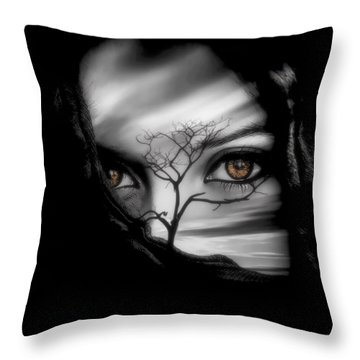 Allure Of Arabia Brown Throw Pillow