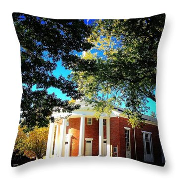 Alma College Dunning Memorial Chapel Throw Pillow