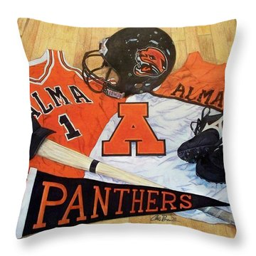 Alma High School Athletics Throw Pillow