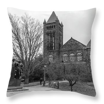 Alma Mater And Law Library University Of Illinois  Throw Pillow