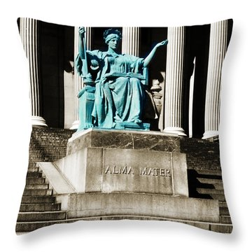 Alma Mater Throw Pillow by Marilyn Hunt