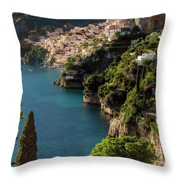 Almalfi Coast Throw Pillow by Brian Jannsen