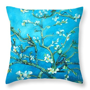 Almond Blossom Throw Pillow