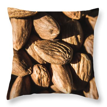 Throw Pillow featuring the photograph Almond Nuts by Jorgo Photography - Wall Art Gallery