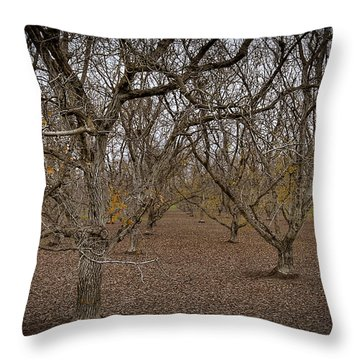 Almond Orchard Throw Pillow