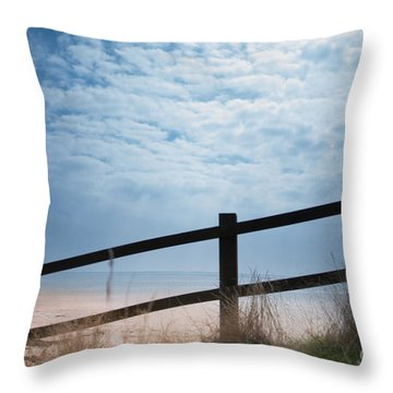 Throw Pillow featuring the photograph Almost At The Beach by Jan Bickerton