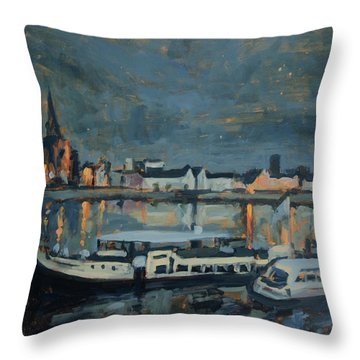 Almost Christmas In Maastricht Throw Pillow