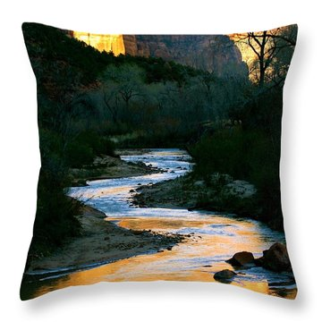 Almost Dusk Throw Pillow