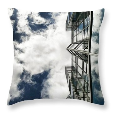 Urban Cloudscape Throw Pillow