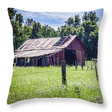 Throw Pillow featuring the photograph Almost Gone But Still Standing by William Havle
