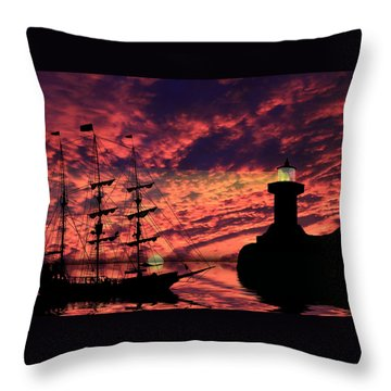 Almost Home Throw Pillow by Shane Bechler