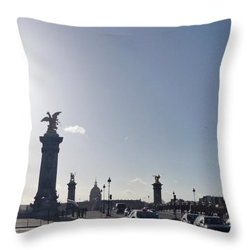Almost Night In Paris Throw Pillow