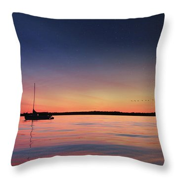 Throw Pillow featuring the photograph Almost Paradise by Lori Deiter