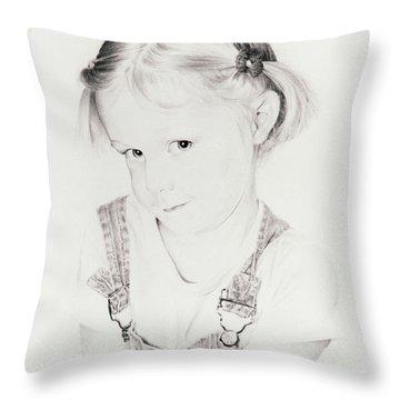 Almost Perfect Throw Pillow by Rachel Christine Nowicki