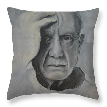 Almost Picasso Throw Pillow by Allison Ashton