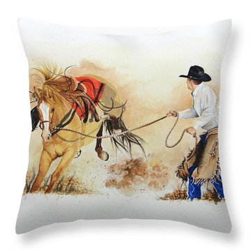 Almost Ready Throw Pillow by Jimmy Smith