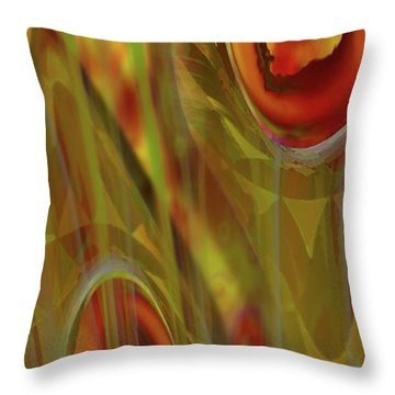 Throw Pillow featuring the digital art Almost  Resting II by Steve Sperry