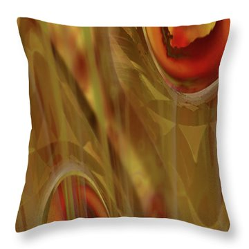 Throw Pillow featuring the digital art Almost Resting by Steve Sperry