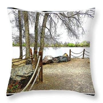 Almost Spring At Lafayette Lake Throw Pillow