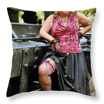 Almost Steampunk Throw Pillow by VLee Watson