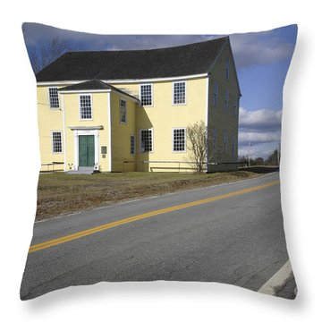 Alna Meetinghouse - Alna Maine Usa Throw Pillow by Erin Paul Donovan