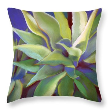 Aloe Plants In Big Sur Throw Pillow