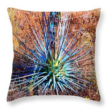Aloe Vera In Meadow Throw Pillow by Mariola Bitner