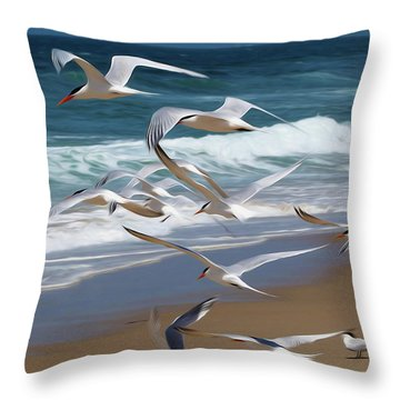 Aloft Again Throw Pillow