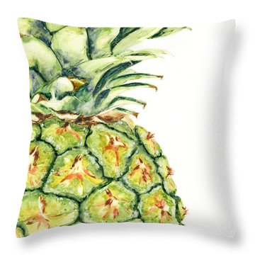 Aloha Again Throw Pillow by Marsha Elliott
