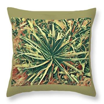 Aloha Aloe In Puna Throw Pillow