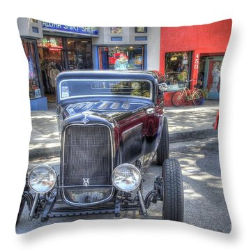 Aloha Cars And Pinups Throw Pillow