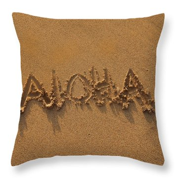 Aloha In The Sand Throw Pillow