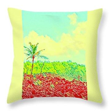 Aloha Lava Aina Hawaii Sky Throw Pillow