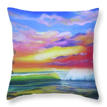 Aloha Reef Throw Pillow