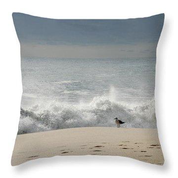 Alone - Jersey Shore Throw Pillow