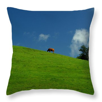 Alone Again - Squared Throw Pillow