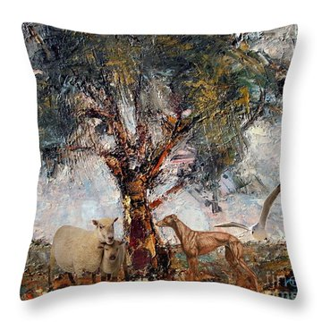 Alone Against Storms 5 Throw Pillow
