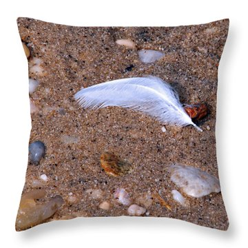 Throw Pillow featuring the photograph Alone Among Strangers by Lynda Lehmann